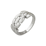 Sterling Silver Matte Finish Buckle Ring
