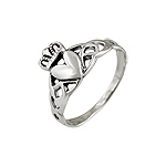 Sterling Silver Celtic Knot Claddah Ring