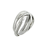 Sterling Silver 3mm Trinity Band
