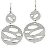 Sterling Silver Cut-Out Circles Dangle Earrings