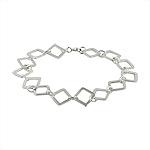 Sterling Silver Open Squares Bracelet