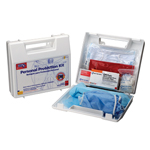 20 piece, Bloodborne Pathogen / Bodily Fluid Spill Kit - Plastic Case