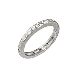 Sterling Silver Etoile CZ Stackable Band