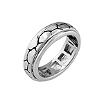 Sterling Silver Cobblestone Spin Ring