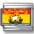 New Brunswick, Canada Flag Photo Charm