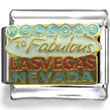 Welcome to Las Vegas Sign Enamel Charm