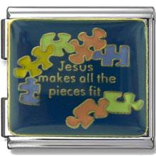 Jesus Puzzle Pieces Enamel Mega Link