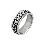 Sterling Silver Celtic Knot Claddagh Spin Ring