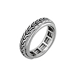 Designer Inspired Sterling Silver Cable Spin Ring
