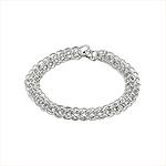 Sterling Silver 6mm Foxtail Bracelet