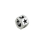Sterling Silver Symbols Bead (Cross, Sun, Moon, Star, Anchor, Heart)