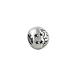 Sterling Silver Moon and Stars Bead