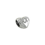 "Sterling Silver ""Mom"" Heart Bead"