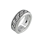 Sterling Silver Celtic Knot Spin Ring