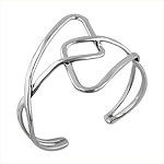 Sterling Silver Abstract Cuff