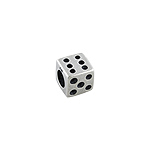 Sterling Silver Dice Square Bead