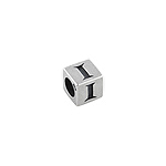 "Sterling Silver ""I"" Square Bead"