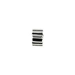 Sterling Silver Stripes Clip Pendant