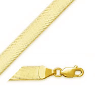14K 5.5mm Herringbone Chain