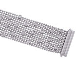 14K White Gold 2.61ct Diamond Bezel Beaded Bracelet