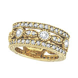 18K Yellow Gold 2.15ct Diamond Eternity Ring Band SI1-SI2 G-H