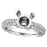 18K White Gold 1.55ct Diamond Eternity Setting Semi Mount Ring Mounting SI1-SI2 G-H