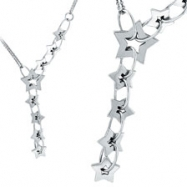 14K White Gold Designer .64ct Diamond Necklace SI1-SI2 G-H