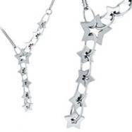 14K White Gold Designer .64ct Diamond Necklace SI1-SI2 G-H