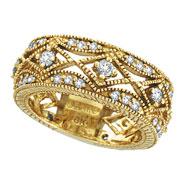 18K Yellow Gold 1.0ct  Diamond Eternity Band Ring SI1-SI2 G-H