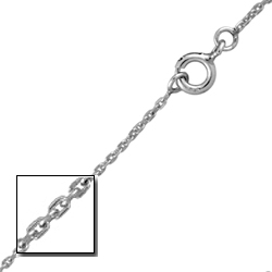 Sterling Silver 1mm Cable Chain