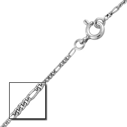 Sterling Silver 1mm Figaro Chain