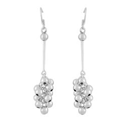 Sterling Silver Grape Dangle Earrings