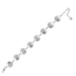 Sterling Silver Round Links Bracelet
