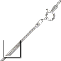 Sterling Silver 1.5mm Square Snake Chain