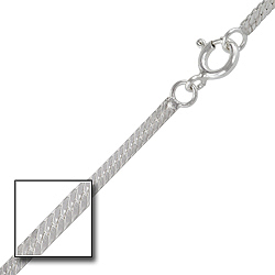 Sterling Silver 2mm Herringbone Chain