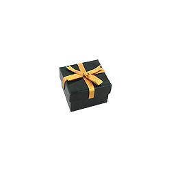 Green Ring Box with Gold Bow
