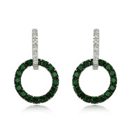 Emerald With Diamond Earrings