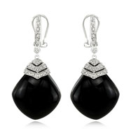 Onyx Diamond Earring