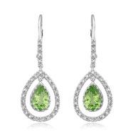 Peridot With Diamond Earrings