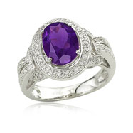 Amethyst With Diamond Ring