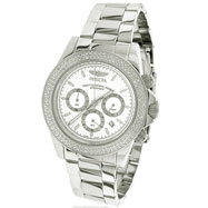 Invicta Speedway Chronograph White Dial Diamond Watch