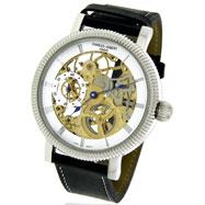 Charles Hubert Visible Mechanics Leather Band Watch