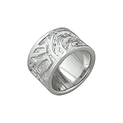 Sterling Silver Arches and Lines Ring