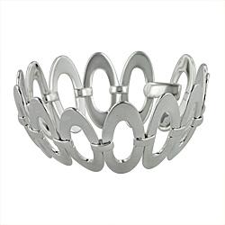 Sterling Silver Wide Ovals Bracelet