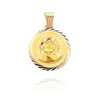"14K Yellow Gold Diamond Cut ""Ecce Homo"" Jesus Medal"