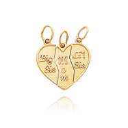 "14K Yellow Gold ""Big Sis/Mom/Lil"