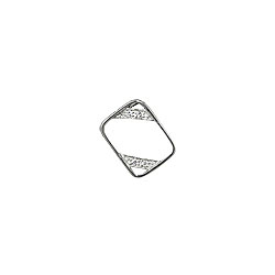 "Sterling Silver ""Frame"" Pendant with White CZ"
