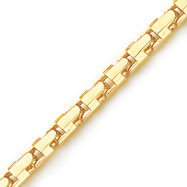 14K Yellow Gold 8.25mm Fancy Geometric Link Bracelet
