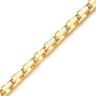 14K Yellow Gold 6.50mm Fancy Hand-Polished Link Bracelet