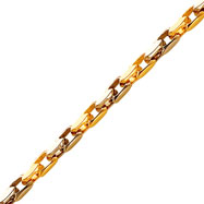 14K Two-Tone 6.5mm Fancy Diamond Link Bracelet